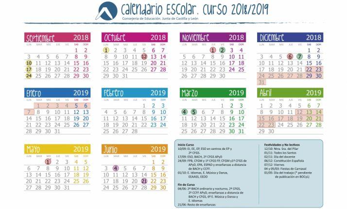 Calendario escolar 2018-2019 en CyL