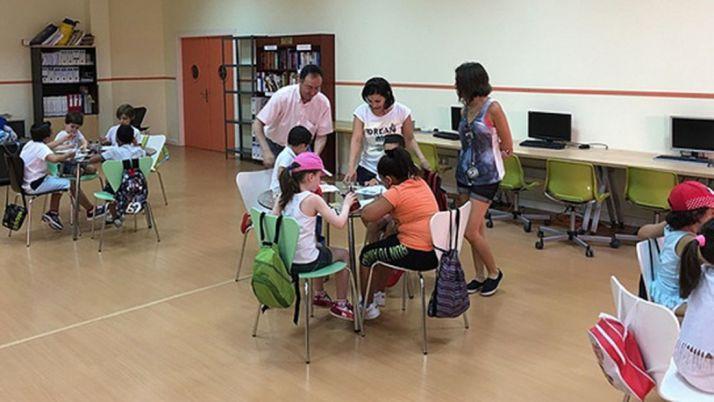 Niños durante las actividades.