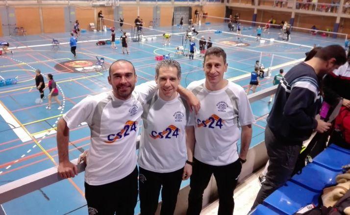 David Hernansanz, Manuel Acero y José Carlos Pérez.