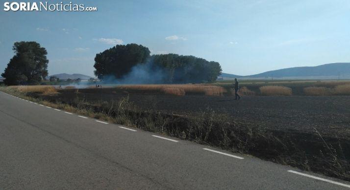 Una imagen del paraje incendiado. /SN