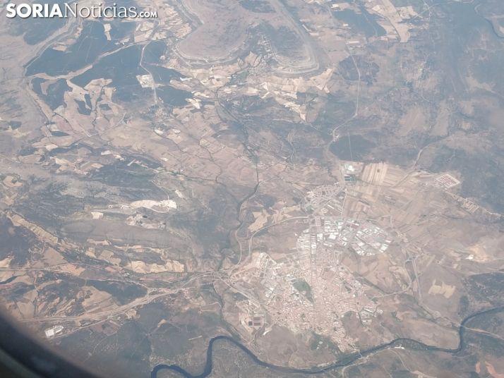 Vistas de Soria desde un avión.