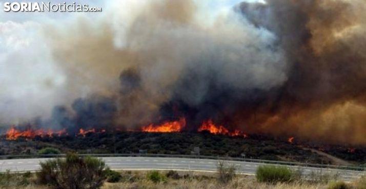 Foto 1 - Declarada alerta de incendios forestales por riesgo meteorológico para los días 2, 3, 4 y 5 de agosto en todo CyL