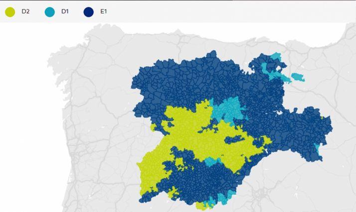 El mapa con las zonas climáticas. /Jta.