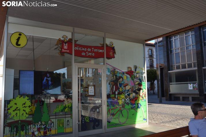 Oficina de turismo en Soria capital.