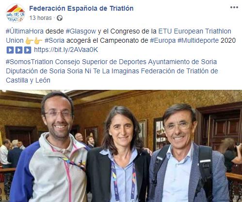 Imagen de la Federación Española de Triatlón.