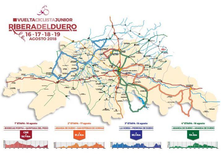 Foto 1 - La Vuelta Ciclista Junior a la Ribera del Duero pasa por San Esteban de Gormaz