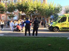 Momento del accidente en Nicolás Rabal.