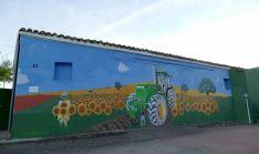 Una imagen del nuevo mural.