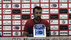 López Garai, en rueda de prensa. CD Numancia