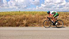 Una imagen del intenso fin de semana ciclista en Soria en su última jornada. /Ángel Vivar