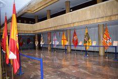 Las fotos de las banderas  históricas de la exposición 'España en rojo y gualda'