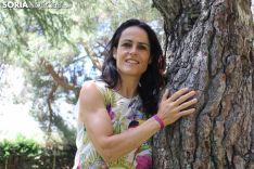 Elisa Hernández, en lo Alto de la Dehesa.