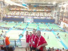 Fin de la competición para los cuatro sorianos en el Europeo Sénior de bádminton