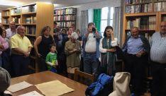 Una image de la naguración de la nueva biblioteca. /GEC