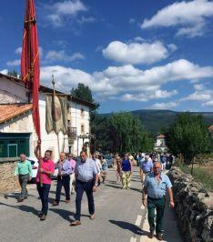 Una imagen de la procesión este mediodía. /GEC