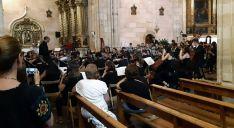 Una imagen del concierto en el templo parroquial. /Dip.