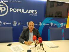 Pedro Antonio Heras en rueda de prensa. SN