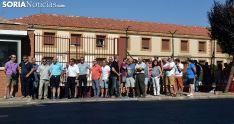 Concentración de funcionarios frente a la prisión de Soria a comienzos de agosto. /SN