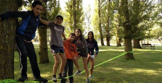 Un grupo de chavales en una actividad en Valonsadero. /Ayto.