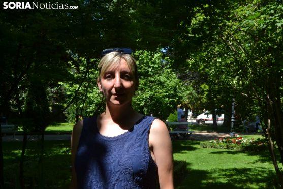 Yolanda Santos se sienta en el Rincón de Soria Noticias