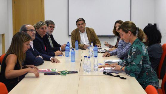 Reunión de FOES con el Vicerrectorado del Campus. /FOES