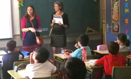 Presentación del concurso en un colegio de la capital. /FSP_UGT