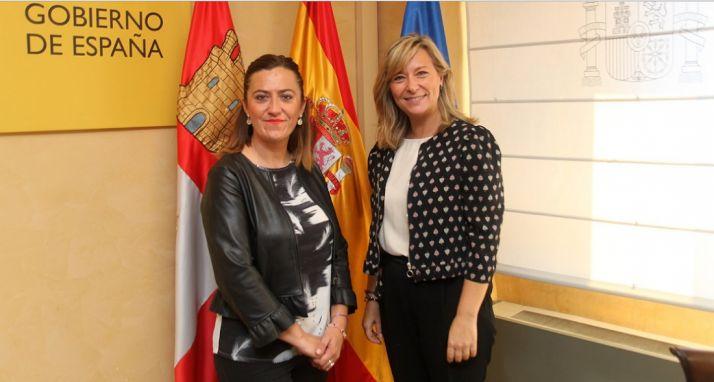 Virgina Barcones y Llanos Castellanos. /Deleg.Gob