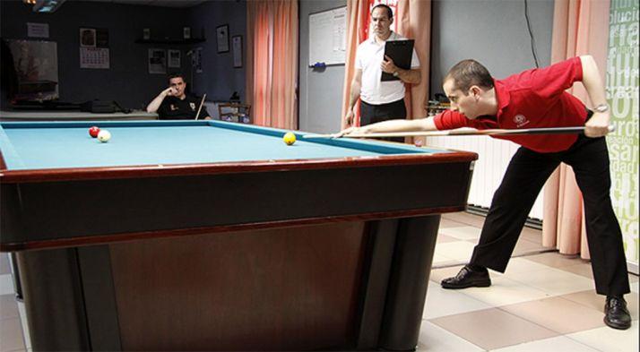 El billarista del Casino, en un torneo.