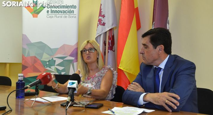 Blanca García y Carlos Martínez este lunes. /SN