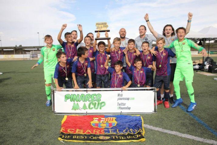 El FC Barcelona, en categoría Alevín, alzó la Pinares Cup en Tarazona. Pinares Cup