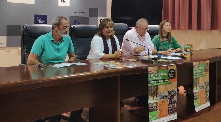 De izquierda a derecha, Andrés Vadillo, Esther Pérez, Fidel Soria y Olga Pérez.