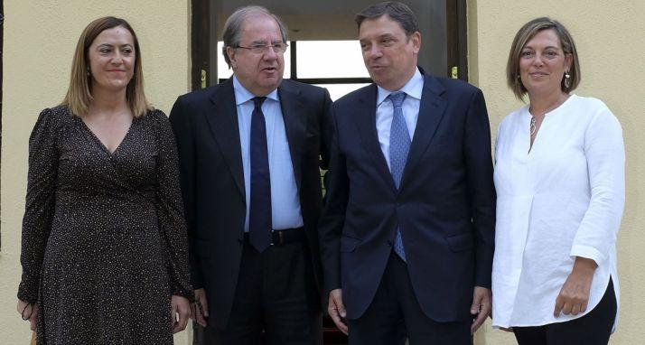 De izquierda a derecha, Barcones, Herrera, Llanas y Marcos. /Jta.