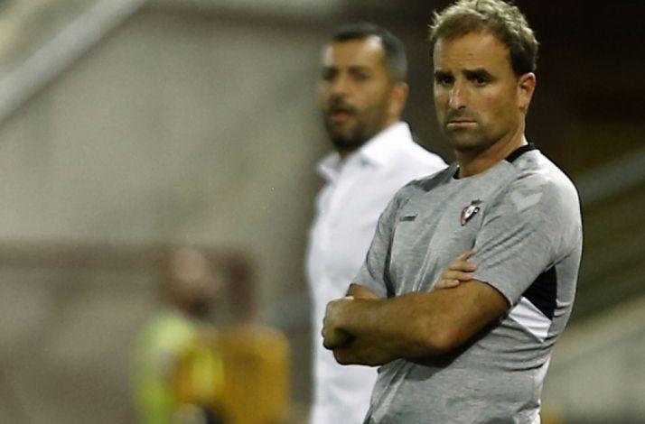 Jagoba Arrasate, ex del Numancia, dirigiendo a Osasuna. Atlético Osasuna