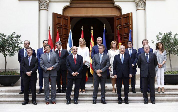 Presidentes y representantes de las regiones despobladas. /GA