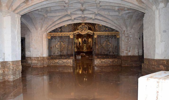 Técnicos de la Junta y el abad de Santa María de Huerta se reunirán tras la limpieza para evaluar daños