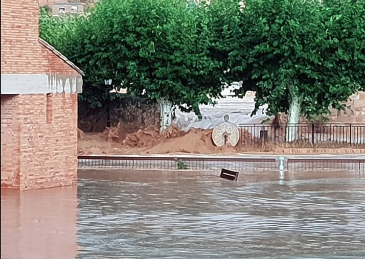 Foto 2 - La gota fría causa estragos en el sur de la provincia y asola Santa María de Huerta (VÍDEOS)