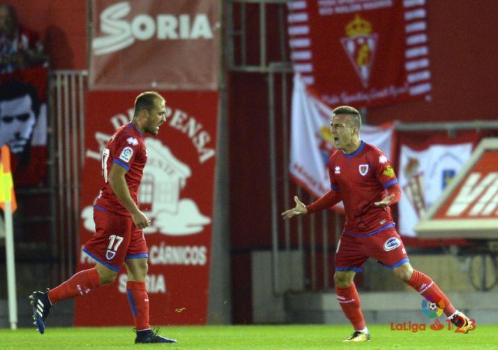 El Numancia venció con solvencia al Sporting la temporada pasada en Los Pajaritos. LaLiga