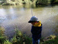 Campano chico durante el Campeonato de Pesca de San Saturio. Campano Soriano