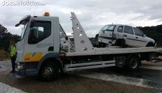 El vehículo tras la asistencia de la grúa. /SN
