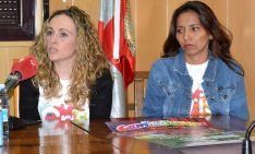 Alicia Gómez y Patricia Roca, este jueves en el ayuntamiento de Golmayo. /SN