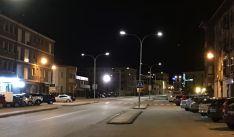 Iluminación de la avenida Juan Carlos I en la Villa Episcopal.