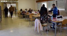 Estudiantes en el Campus Duques de Soria. /SN