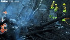 Personal anti incendios en un fuego forestal en la provincia. /SN