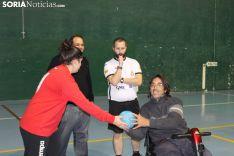 Aspace, homenajeado y beneficiado durante el BM Ágreda-BM Colores. SN