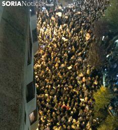Vista en alto de la manifestación en el tramo final. /SN