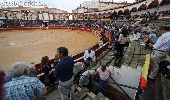 Estado de la plaza el Domingo de Calderas.
