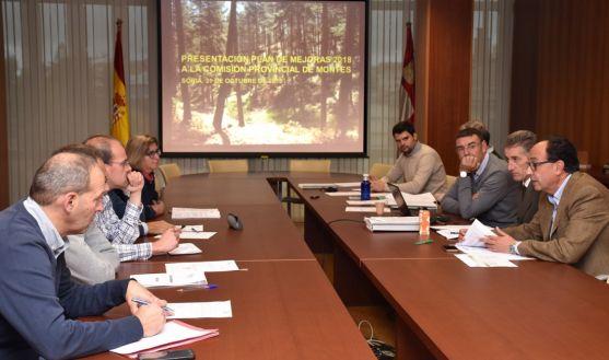 Reunión de la Comisión Territorial de Mejora de Soria este miércoles. /Jta.