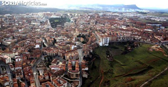Vista aérea de la capital soriana. /SN