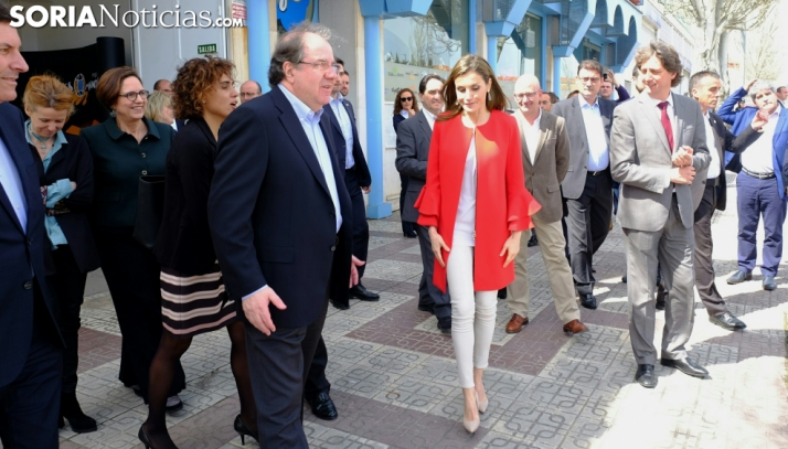La reina en su vista a Soria en marzo de 2017.