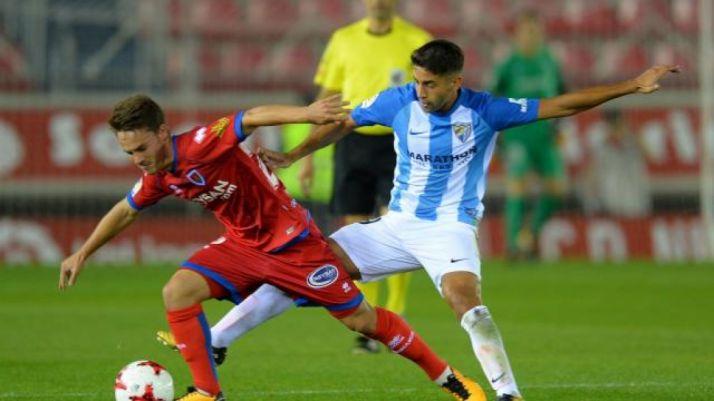 Numancia-Málaga en Los Pajaritos, durante la pasada Copa del Rey. LaLiga